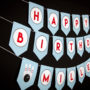 Bowling Birthday Banner - Blue