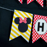Printable Minnie Mouse Banner
