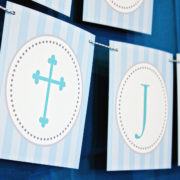Boys Baptism or First Communion Banner