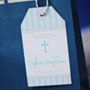 Boys Baptism or First Communion Favor Tags