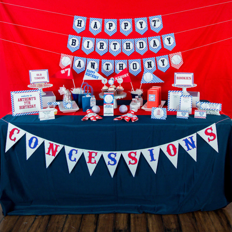 Printable Baseball Party Decorations