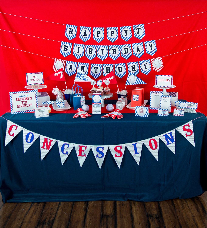 Baseball Birthday Party Decorations