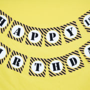 Printable Construction Party Birthday Banner
