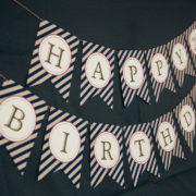 Vintage Baseball Party Banner