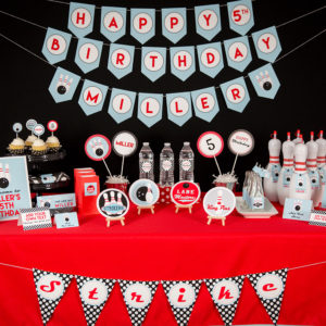 Printable Bowling Party Decorations