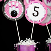 Girls Bowling Table Decorations