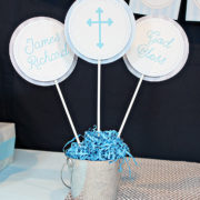 Boys Baptism or First Communion Centerpieces