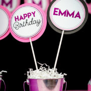 Girls Bowling Party Centerpiece