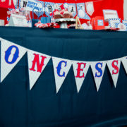 Baseball Party Concessions Banner