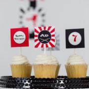 Ninja Party Cupcake Topper