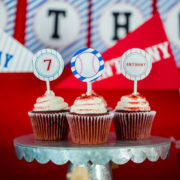 Baseball Party Cupcake Topper