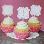 Baptism Cupcake Toppers