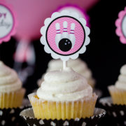 Girls Bowling Birthday Party Cupcakes