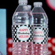 Bowling Party Water Labels