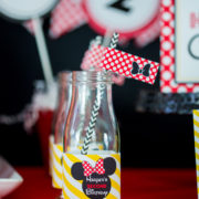 Red Minnie Mouse Drink Labels