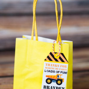 Construction Party Favor Tags