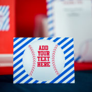 Baseball Party Editable Food Label