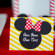 Red Minnie Mouse Food Labels