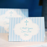 Boys Baptism or First Communion Food Labels