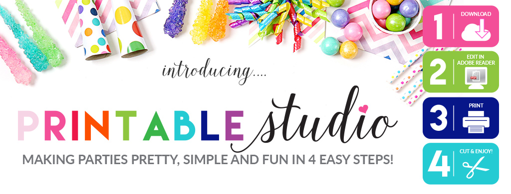 Introducing Printable Studio Parties