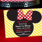Red Minnie Mouse Invitation