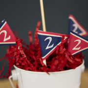 Vintage Baseball Party Minin Flags