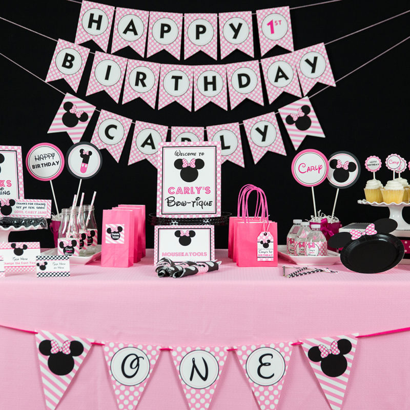 Pink Minnie Mouse Party Decorations