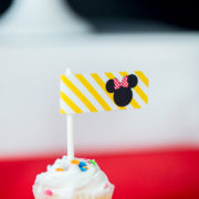 Red Minnie Mouse Party Flag