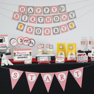 Printable Race Car Party Decorations