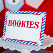 Baseball Party Editable Sign