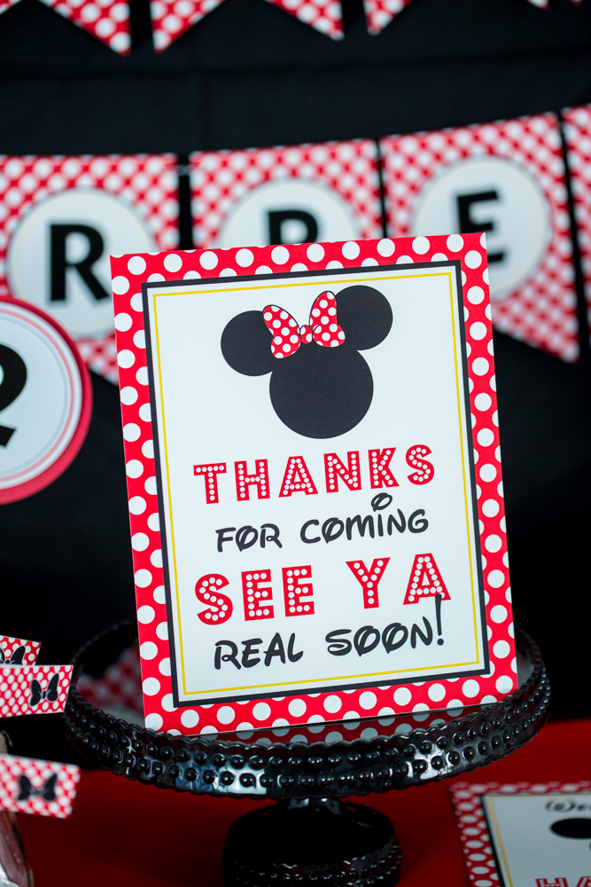 Red Minnie Mouse Birthday Party Directions 505 Design Inc