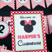 Minnie Mouse Clubhouse Sign