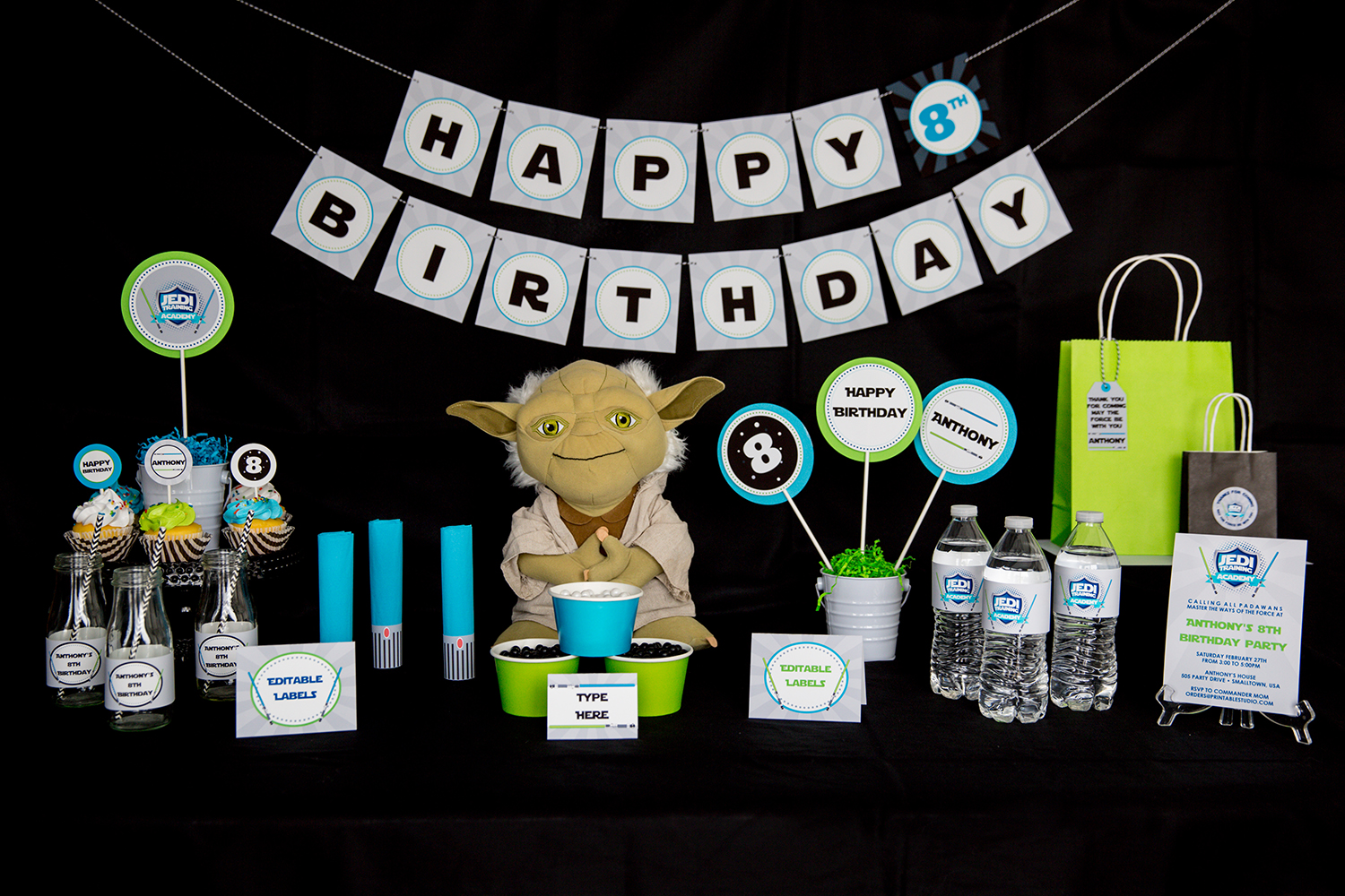 Star wars birthday party decorations 505 design inc for Star wars dekoration