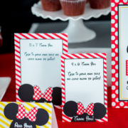 Red Minnie Mouse Thank You Card