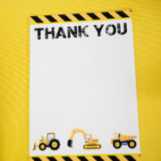 Construction Party Thank You Card