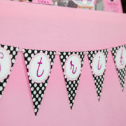 Girls Bowling Birthday Strike Banner