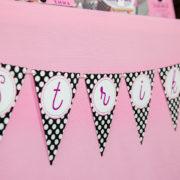 Girls Bowling Birthday Strike Banner