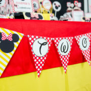 Red Minnie Mouse Triangle Banner