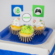 Video Game Party Cupcake
