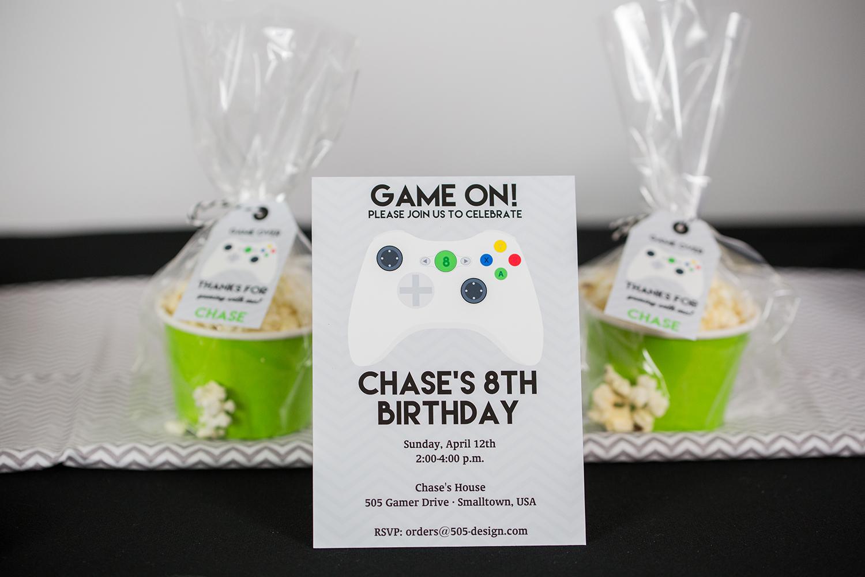Video Game Party Invitation — 505 Design, Inc