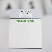 Video Game Party Thank You Card