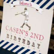 Vintage Baseball Party Welcome Sign