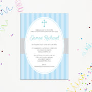 Boys First Communion Invitation