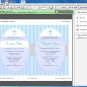 Editable First Communion Invitation