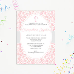 Girls First Communion Invitation