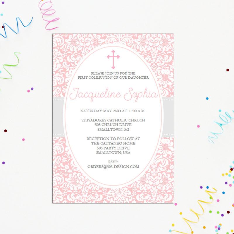 Girls First Communion Invitation
