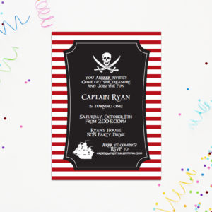 Printable Pirate Party Invitation