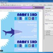 Editable Shark Party Invitation