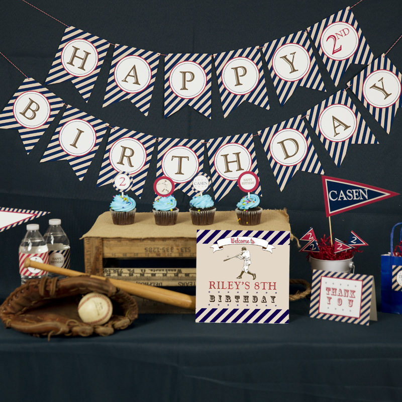 Vintage Baseball Party Decorations