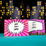 Editable Girls Superhero Signs